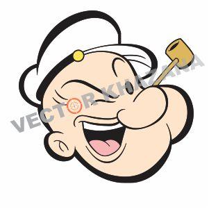 Popeye Face Logo Vector