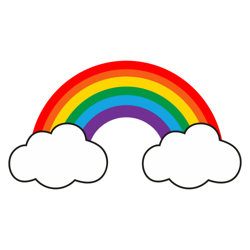 Rainbow With Cloud Svg