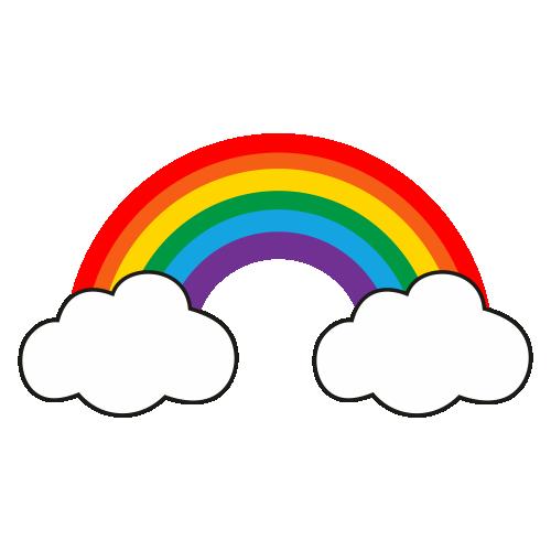 Rainbow With Cloud Svg