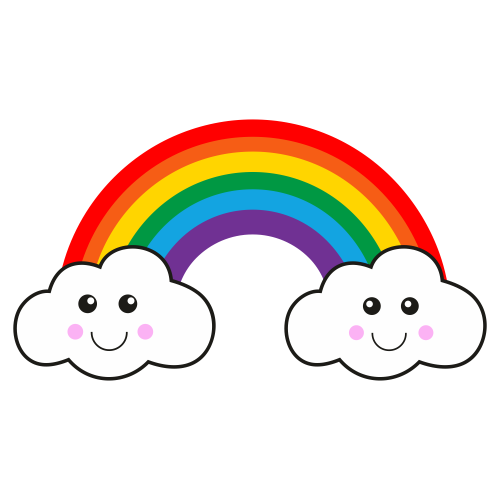 Rainbow With Cloud Clipart