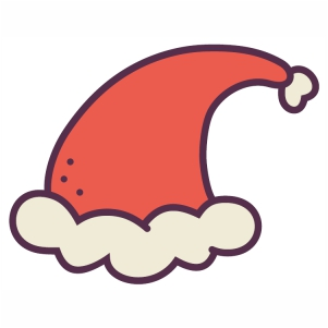 Cute Santa Cap svg cut file