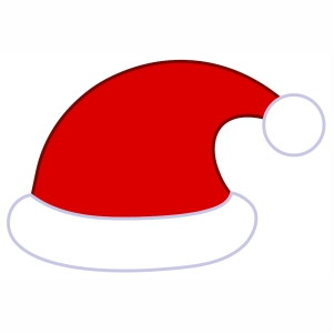 Red Christmas Cap svg file
