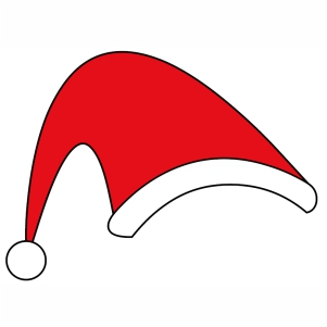 Santa Claus Hat svg cut file