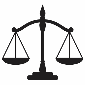 Justice Law Scale Icon svg