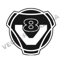 Scania V8 Car Logo Vector