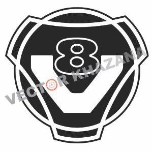 Scania V8 Car Logo Svg
