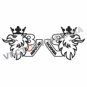 Scania V8 Griffin Logo svg cut