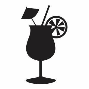Summer cocktail drink svg file