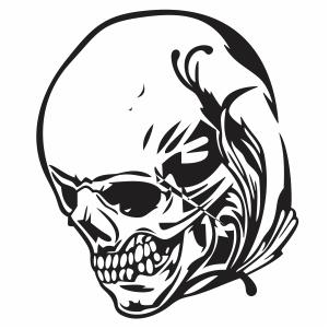 skull face svg cut