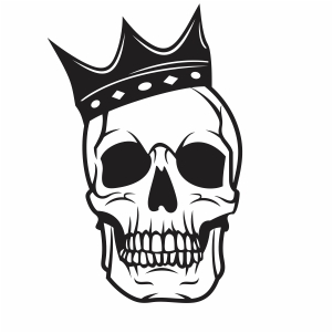 Skull with crown vector file