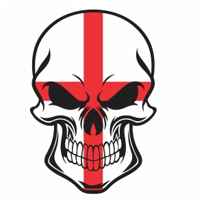 Skull england flag vector file