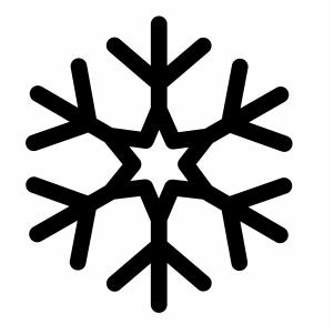 Black Snow Snowflake svg cut file