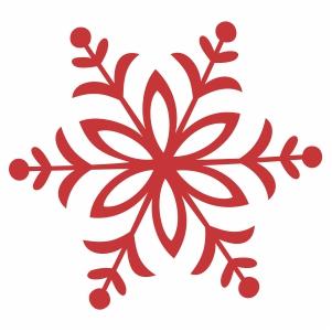 Red xmas snowflake svg