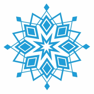paper snowflake svg cut file