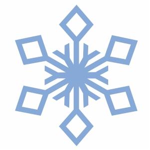 snow flake svg cut file