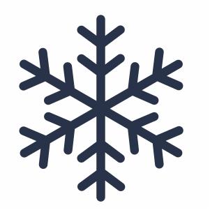 blue snowflake icon svg cut