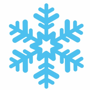 snowflake sign svg cut file