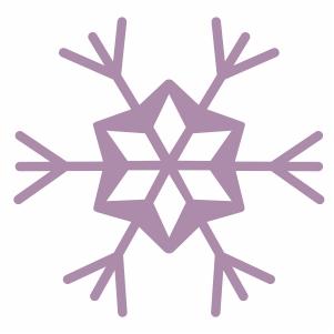 purple snowflake svg cut file