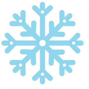 simple snowflake silhouette svg cut file