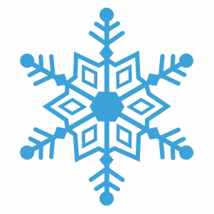 snowflake silhouette cut file