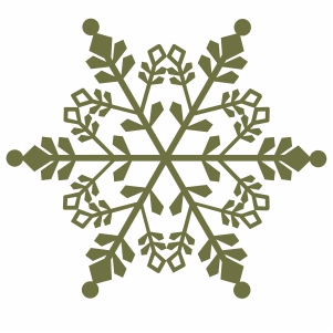 green snowflake clipart svg cut file