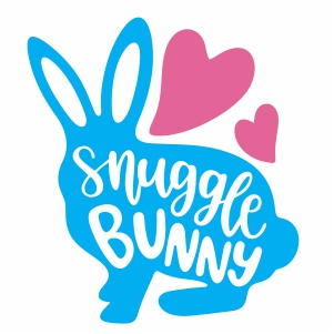 snuggle bunny vector file
