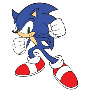 Sonic Svg Sonic Cartoon Svg Cut File Download Jpg Png Svg Cdr Ai Pdf Eps Dxf Format