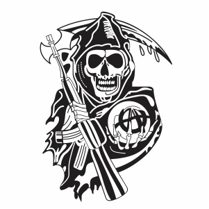 sons of anarchy skull logo svg file
