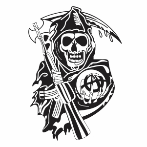 sons of anarchy reaper logo vector file