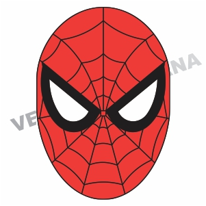 Spider Man Face Mask Vector