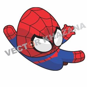 Cute Spider Man Vector