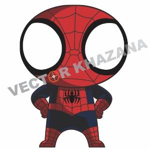 Spiderman Chibi Vector