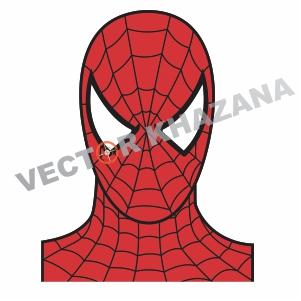 Spider Man Face Vector
