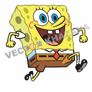 SpongeBob SquarePants Smile Logo Vector