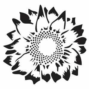Svg File Silhouette Sunflower Svg Free