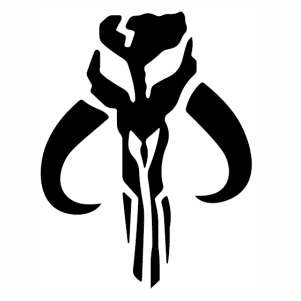Star Wars Mandalorian Skull Svg