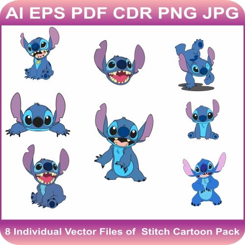 Stitch Disney Character Vector Bundle
