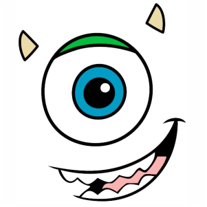 Sully Monsters Inc Eye logo vector image