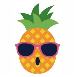 Pineapple With Sunglasses vector