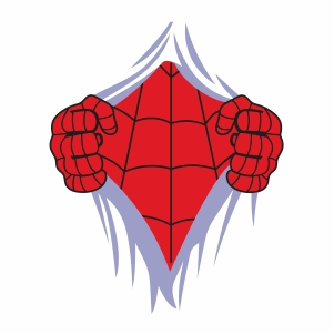 Spiderman Ripped Svg