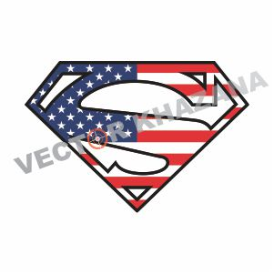 Superman Logo USA Flag Vector