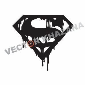 Bloody Superman Logo Vector