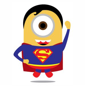 Superman Minion svg cut
