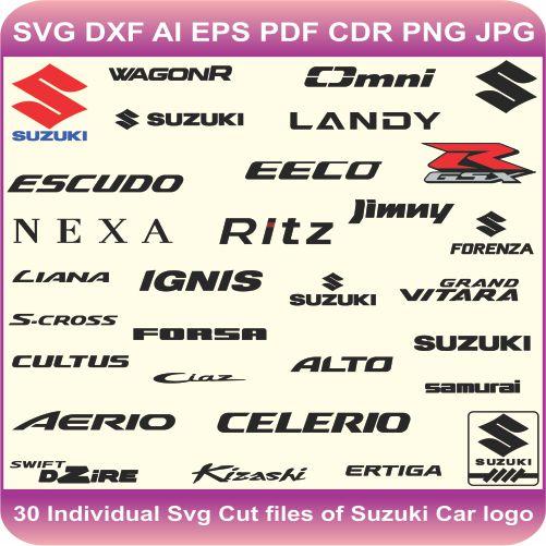 Suzuki Pack Logos Svg Cut Files