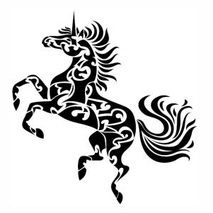 Zentangle Horse vector