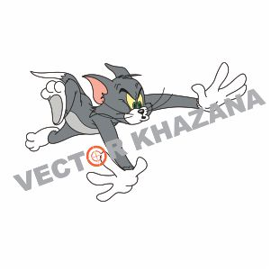 Tom Cat Logo Vector