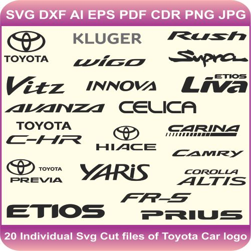 Toyota Pack Logos Svg Cut Files