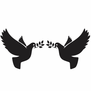 Two love bird svg