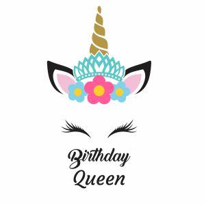 Birthday Queen UnicornVector