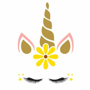 Unicorn Sunflower Svg